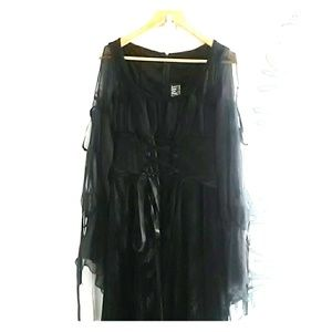 Lipservice Costume Black Velvet Gothic Witch